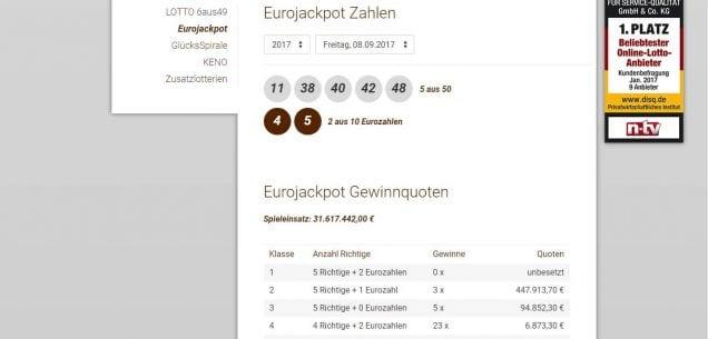 lotto 6 aus 49 Eurojackpot Zahlen