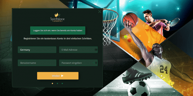 Spin Palace Sports Registrierung